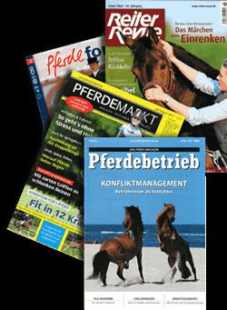 Collage Pferdezeitschriften